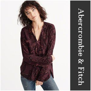 ABERCROMBIE & FITCH Blouse w, Paisley Print